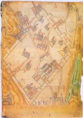 Jerusalem Historical Maps with Saint Lazare Hospital